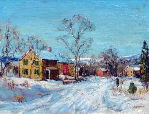 Walter Baum: Snowy Farmstead